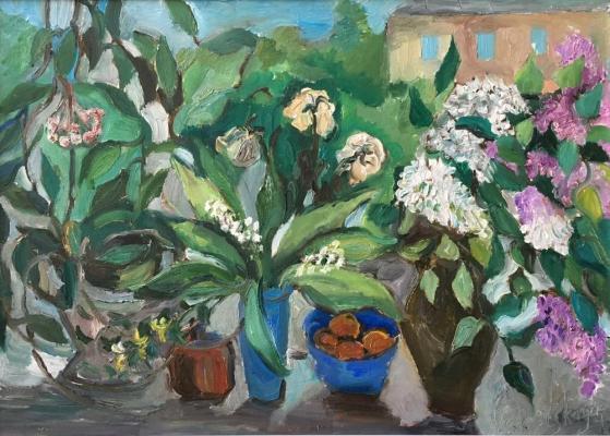 """Yelnitskaya V. """"Still life with a lilac."""""""