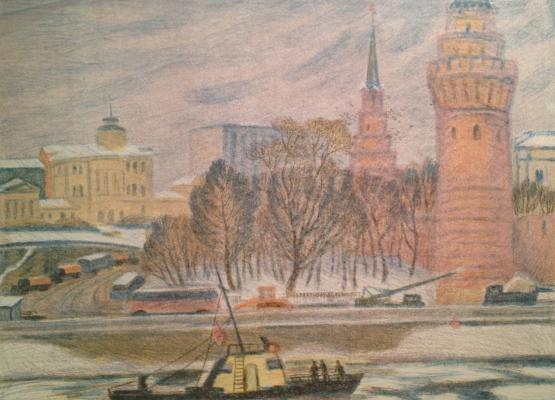 "Dekhtereva ""At the Kremlin towers. Moscow"""