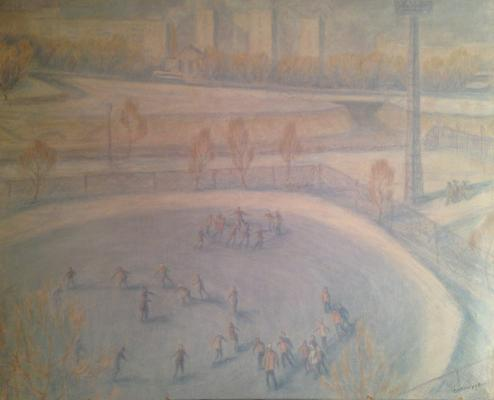 "Dekhtereva T. A. ""Moscow. Ice rink."""