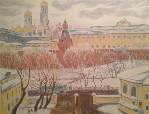 Дехтерева Татьяна Александровна. Вид на Кремль