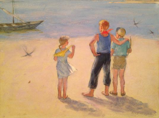 """Dekhtereva T. A. """"On the shore"""""""