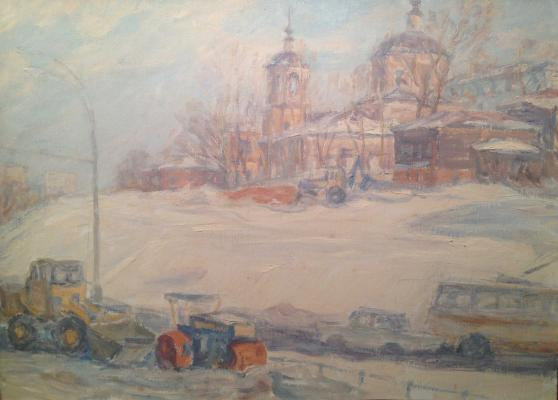 "Dekhtereva T. A. ""Snow removal on the Yauza."""