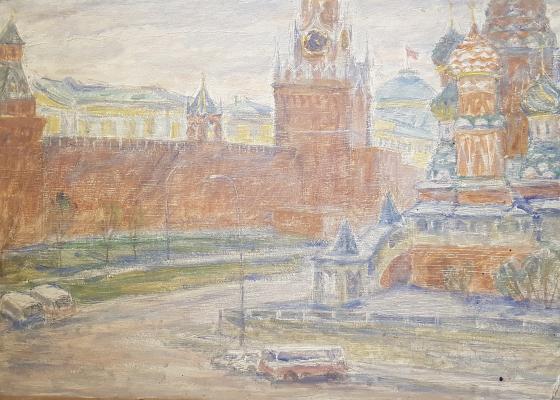 Дехтерева Татьяна Александровна. Вид на красную площадь и Исакиевский собор
