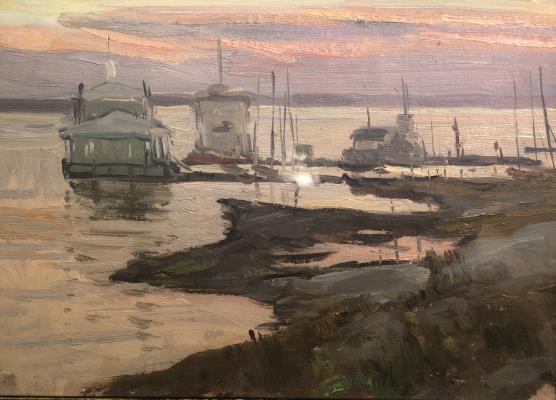 "Dmitriyevsky V. K. ""Pier at sunset."""
