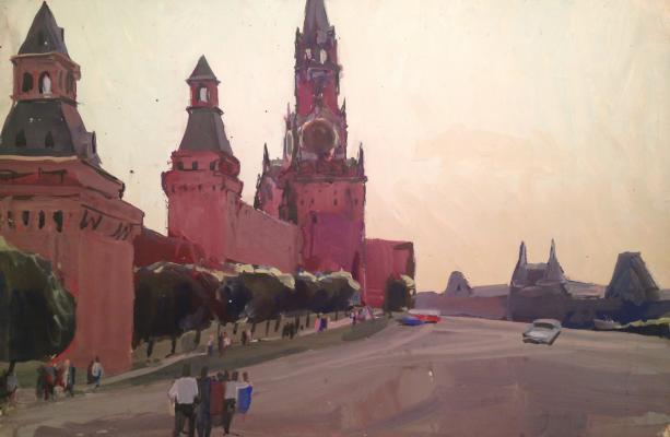 "Burmistrov B. A. ""The walls of the Kremlin."""