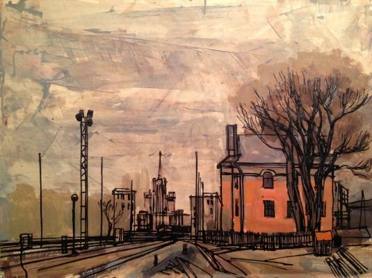 """Burmistrov B. A. """"Railroad tracks. Moscow"""""""