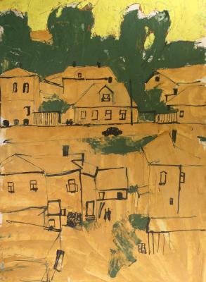 """Boris Alekseyevich Burmistrov """"City landscape."""""""