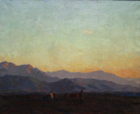 "Chuykov S. A. ""Evening in Kyrgyzstan."""