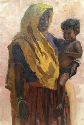 "Chuykov S. A. ""Grandmother and grandson."""