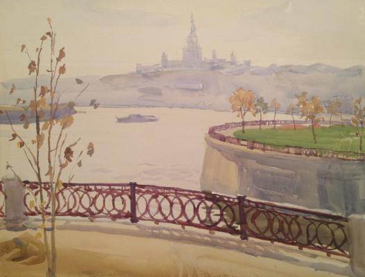 "Piskareva A. N. ""View from the embankment in the univeritet ."""