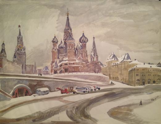 Пискарева Анна Николаевна. Вид на собор Василия Блаженного