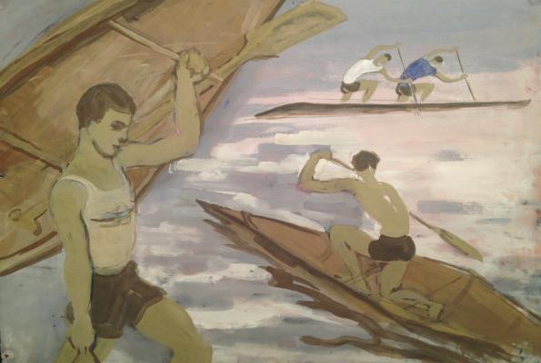 "Piskareva ""Rowing."""