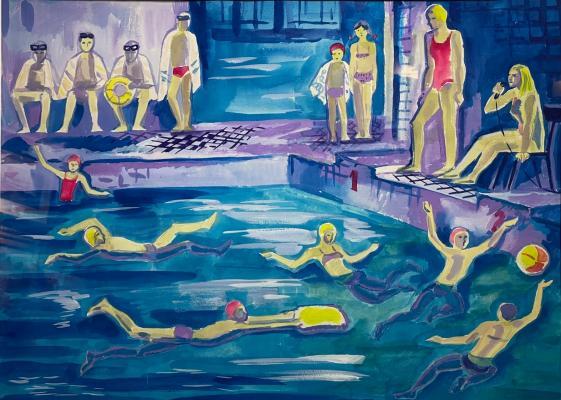 """Piskareva A. N. """"Swimming pool."""""""