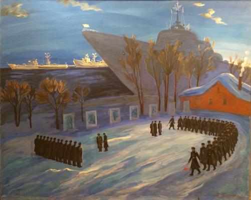 """Piskareva A. N. """"Morning in the military port."""""""