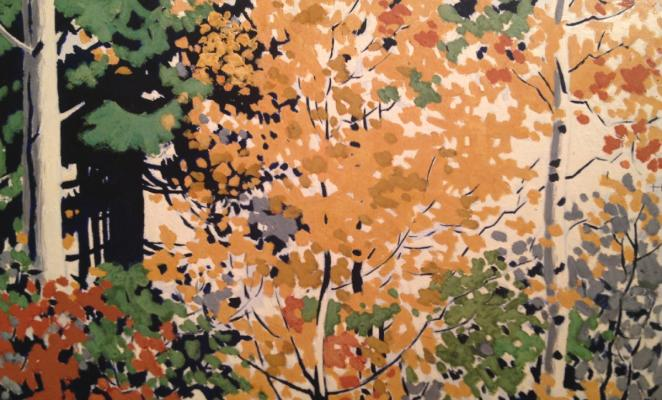 "Viting N. I. ""Birch in the autumn."""