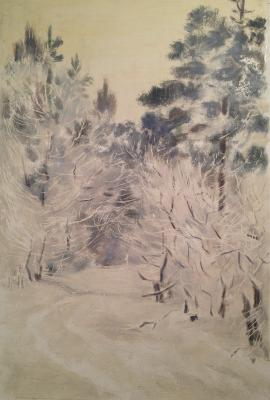 "Viting N. I. ""Fluffy trees in winter ."""