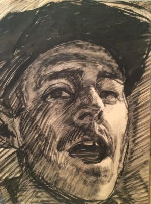 "Viting N. I. ""Self-portrait with mouth open."""