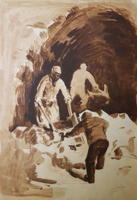 Витинг Николай Иосифович. В каменоломне