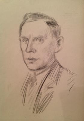 Рудаков Константин Иванович. Мужской портрет.