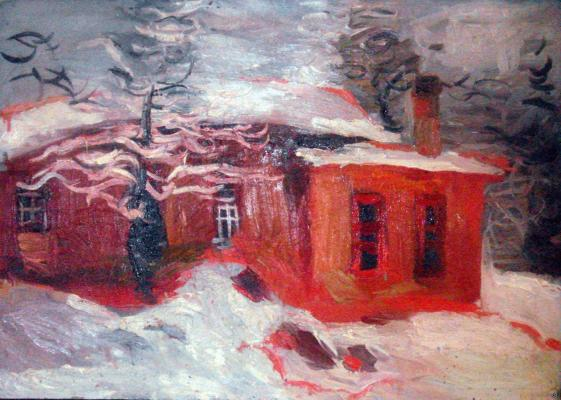 "Kazarin V. S. ""Landscape with Red House"""