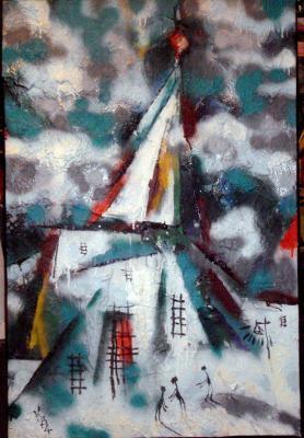 "Kazarin V. S. ""Winter landscape ."""