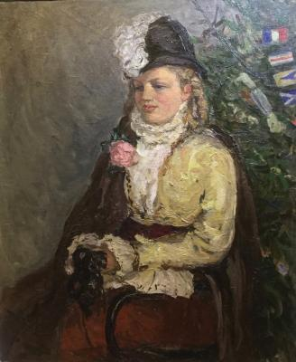 "Stenshinskaya N. S. ""Portrait of the daughter in front of a New Year"