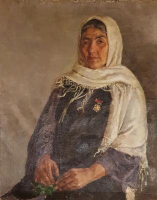 Ахмедов Рахим Ахмедович. Портрет матери-героини
