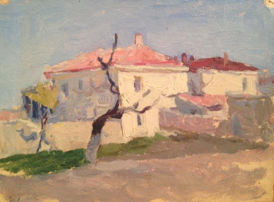 "Yershov I. A. ""Landscape with white house ."""
