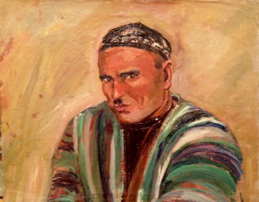 """Ершов """"Портрет шахтера Акбарова. Рудник Кансат."""""""