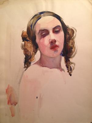 "Terpsikhorov N. B. ""Portrait of a ballerina ."""