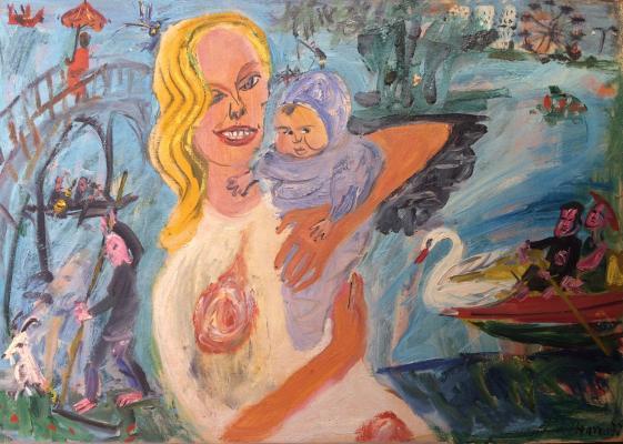 Конышева Натта Ивановна. Мать и дитя.