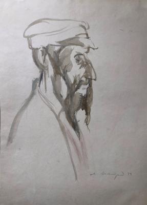 Аксельрод Меер(Марк) Моисеевич. Старик с бородой