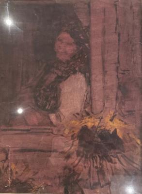 Соколов Алексей Дмитриевич. Женщина с подсолнухом у окна