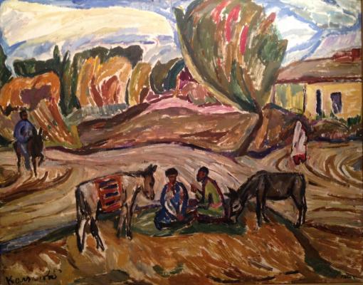 """Kolganova A. S. """"Landscape with donkeys ."""""""
