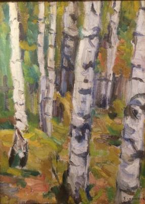"Yegorshina N. A. ""Birches."""