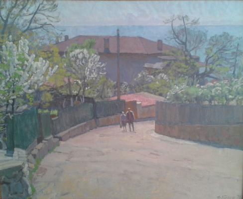 """Glebov F. P. """"Gursuf. Sadovaya street."""""""