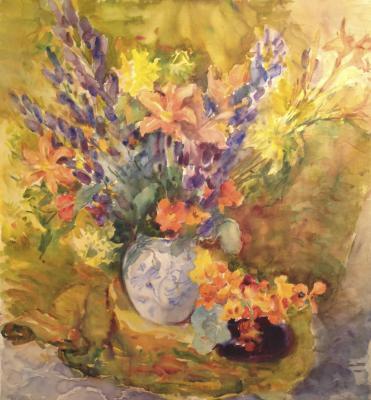 """Deyneko O. K. """"Flowers in gold tones ."""""""