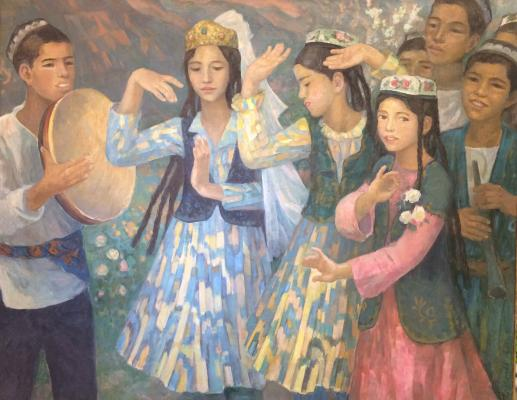 "Tuzhilkina N. Y. ""Dancing Uzbek children."""