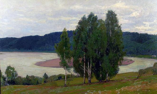 """Tikhomirov """"Morning on the Vyatka."""""""