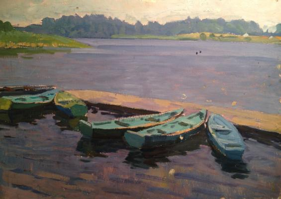 "Kucherov P. P. ""Peyhazh with boats ."""