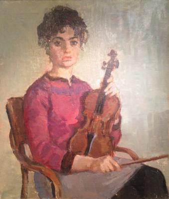 Магидсон Адриана Соломоновна. Молодая скрипачка.