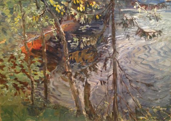 """Nechitaylo K. V. """"Trees by the river."""""""