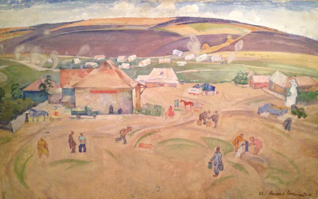 """Nechitaylo K. V. """"August on the farm."""""""