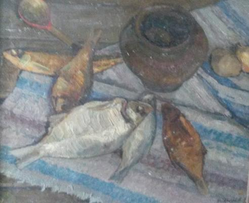 "Nozdrachev N. G. ""Country Still Life with bream."""