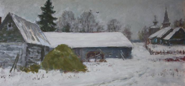 "Nozdrachev N. G. ""Winter in Fedoskino."""