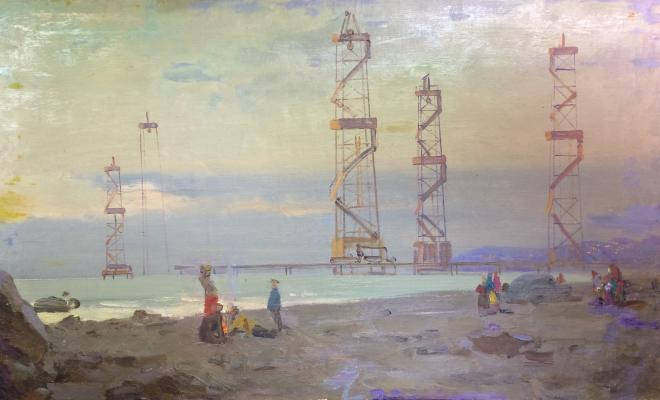 "Sakhanov A. I. ""Oil derricks."""