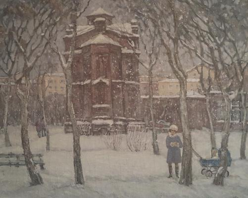 "Abramov A. A. ""The temple of A.Nevsky in the Kurgan. Winter"""