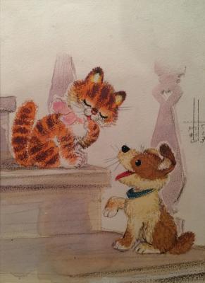 Зеброва Тамара Александровна. Кошка и собачка.