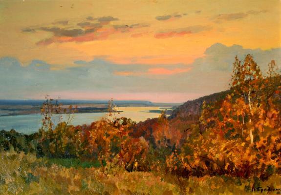 "Brodskaya ""Autumn on the Dnieper River"""