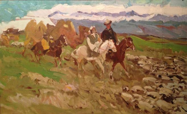 """Nefedova L. S. """"The herd to new pasture."""""""